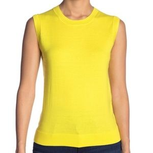 J.CREW Lemon Wedge Crew Neck 100% Cotton Blouse
